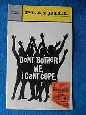 Don't Bother Me, I Can't Cope - Edison Playbill w/Ticket - August 9th, 1972