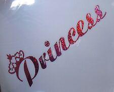 Princess tiara car truck tablet window Vinyl sticker decal Pink holographic