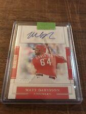 2020 National Treasures Matt Davidson Auto /99 Cincinnati Reds
