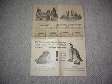 Reklame Werbung 1959 Heissner Gartenzwerge Flyer Preisliste Anzeige Karlsruhe