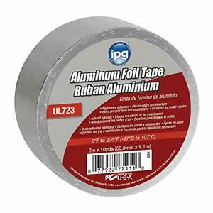 "IPG Aluminum Foil Tape, 2"" x 10 yd , Silver (Single Roll)"