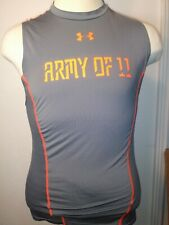 Under Armour Men's Heat Gear Tank Top Large Army of 11 in front A09