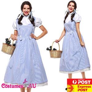 Ladies Wizard of OZ Dorothy Costume Book Week Disney Halloween Fancy Dress
