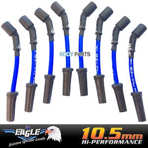EAGLE BLUE 10.5mm IGNITION LEADS - for Holden & HSV 5.7L V8 LS1 Gen3 VT VX VY VZ