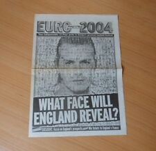 SCOTTISH DAILY MAIL EURO 2004 (PORTUGAL) 12 PAGE GUIDE-NEWSPAPER SUPPLEMENT