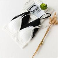 Women Push Up Lace Triangle Bralette Bra Brassiere Padded Lingerie Underwear NEW