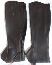 Recitiligne hochwertige Leder  Chaps, braun , Gr.S Höhe 40cm Weite 33cm UVP99€