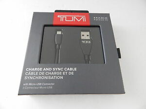 Tumi TUPWR-016-BLK Universal Charge & Sync Cable with Micro USB Connector 4ft