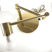 Mid Century Modern Koch+Lowy Brass Moveable Swing Arm Table Desk Lamp Vintage