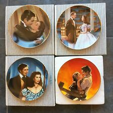 GONE WITH THE WIND Bradford Exchange set of 4 Collectors Plates original box+COA
