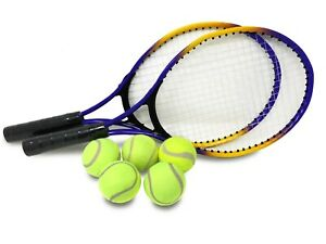 E-Deals Two Tennis Racket and Five Tennis Balls Set for children