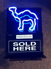 vintage Camel cigarettes lighted neon blue display sign 2001 Fallon made Usa New