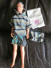 vintage hasbro 1987 surfer dude with outfit, bag and towel