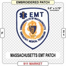 Massachusetts EMT Patch MA State Medic FD Emergency Medical Technician EMS  F 21