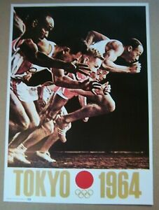 poster  Olympic Games TOKYO 1964 - Official Logo // 35 x 25 cm  !!  RARE