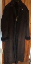 Centigrade Long QVC Chocolate Brown Ladies Winter Coat Faux Suede Size XXXL New