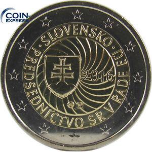 *** 2 EURO Gedenkmünze SLOWAKEI 2016 EU-Präsidentschaft Münze Coin Slovakia ***