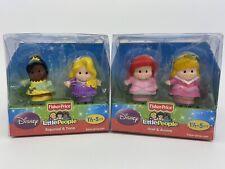 Fisher-Price Little People Princess Lot 4 Figures Ariel Aurora Rapunzel Tiana