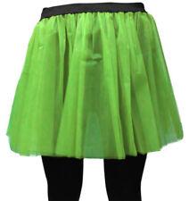 LONG NET NEON UV TUTU SKIRT 80s HEN FLO FANCY DRESS HALLOWEEN PARTY 8-14 & 16-26