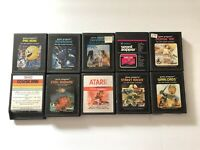 Lot Of 10 Atari 2600 Games TESTED Pac-Man Asteroids Defender Warlords