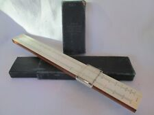 Vintage K & E Favorite Wood Slide Rule 4055 with Case USA