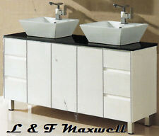 Bathroom Vanity with Stone Top and Double Ceramic Basin 1500mm