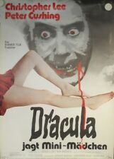 DRACULA JAGT MINI-MÄDCHEN - Filmplakat Poster - PETER CUSHING, CHRISTOPHER LEE