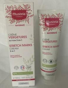 Mustela 3 in 1 Stretch Marks Cream 5.7 oz. Fragrance Free New in Box Exp 11/23