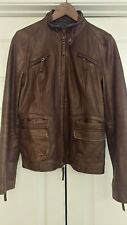 Lucky Brand Leather Jacket Women Medium