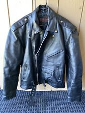 Motorcycle Leather World Jacket by Lucky Leather Black Leather Jacket Size 50