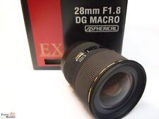 Canon EF Sigma 28mm F1,8 EX DG Macro para 5D 6D phaiseo 1D (de Vitrina como )