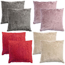"TWINPACK Crushed Velvet Fashion Plain Cushion Covers, 17"" x 17"" (43 x 43cm)"