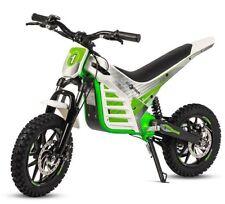 Mini moto electrica de motocross cross bateria 1000w 36v infantil blanca y verde
