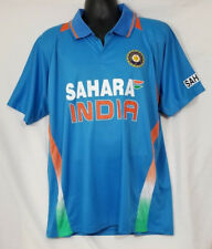 Sahara India Cricket Jersey Men's Blue Orange Size 44 Xlarge