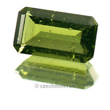 1.97cts rectangle 6x11mm moldavite faceted cutted gem BRUS720