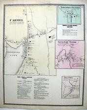 1867 Carmel South East Milltown Gleneida Lake, Putnam Co. Ny * F.W. Beers Orig