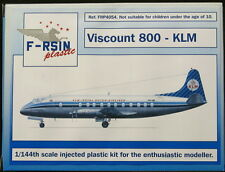 F-RSIN Models 1/144 VICKERS VISCOUNT 800 KLM Royal Dutch Airlines