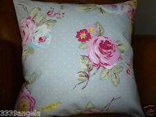 """CUSHION COVER 16"""" COTTAGE CHINTZ SHABBY FLOWER VINTAGE DOTTY FLORAL FRENCH FARM"""