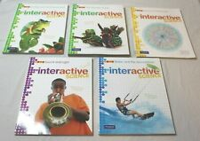 Lot of 5 Pearson Interactive Science Middle School Worktexts Workbook Set New