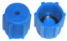 A/C Service Valve Cap 13mm Low Side Blue  (Threads M8x1.0)