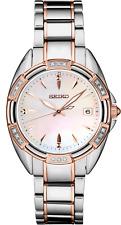 Seiko Women's Diamond Accent Two Tone White Dial Watch SKK878