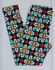 LuLaRoe Disney Leggings One Size Mickey Mouse Black Gray Multi Color OS NWT