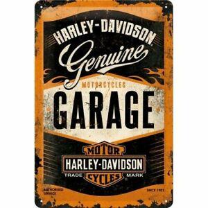 Nostalgic Art Harley Davidson Genuine Motos Garage 20 x 30 Panneau Métallique