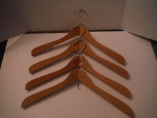 """Vintage Lot of 4 UNION RECORD Wooden 18"""" Hangers with Add'l Hanging Hook"""