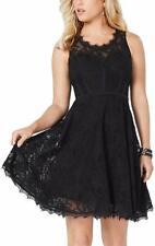 Guess Women's Shaira Lace Fit Flare Dress Size M $128.00