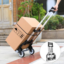 Folding Hand Truck Dollyheavy Duty Luggage Cart With Telescoping Handle 2 Wheel