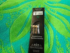 """Crystal Palace Bamboo Knitting Needles Single pointed US size 0   9 """" needles"""