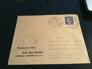 Luxemburg Sonderstempel auf Brief 1956 Grevenmacher Manternach