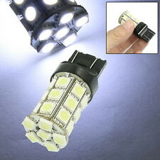 2x T20 3157 5050SMD 27 LED Pure White Auto Side Tail Light Bulb 12V Bright New