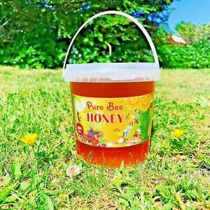 100%PURE RAW ORGANIC HONEY 1kg ENJOY THE GREAT NATURAL TASTE NEW HARVESTED 2020